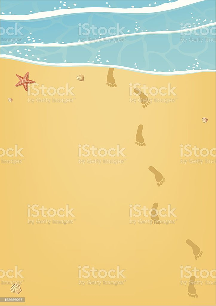 Traces on sand royalty-free stock vector art