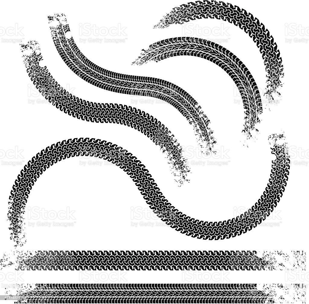 Traces vector art illustration