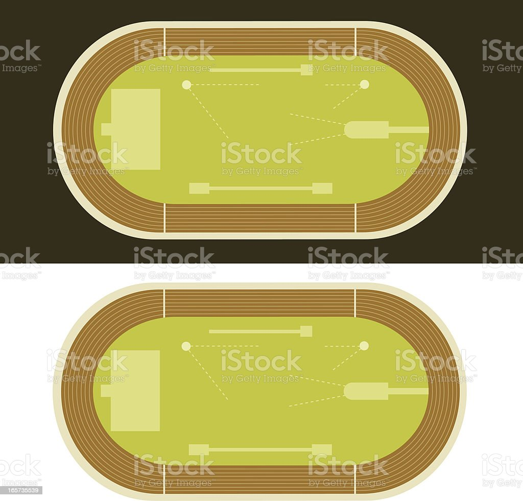 Track and Field Events Diagram royalty-free stock vector art