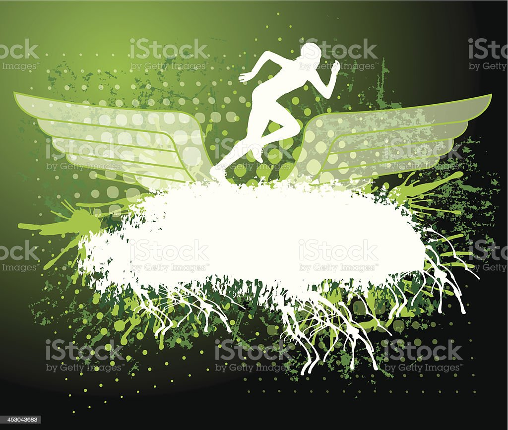Track and Field - Girls Grunge Background royalty-free stock vector art