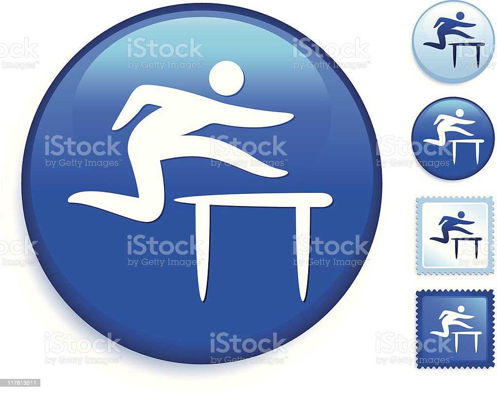 track and field icon royalty-free stock vector art