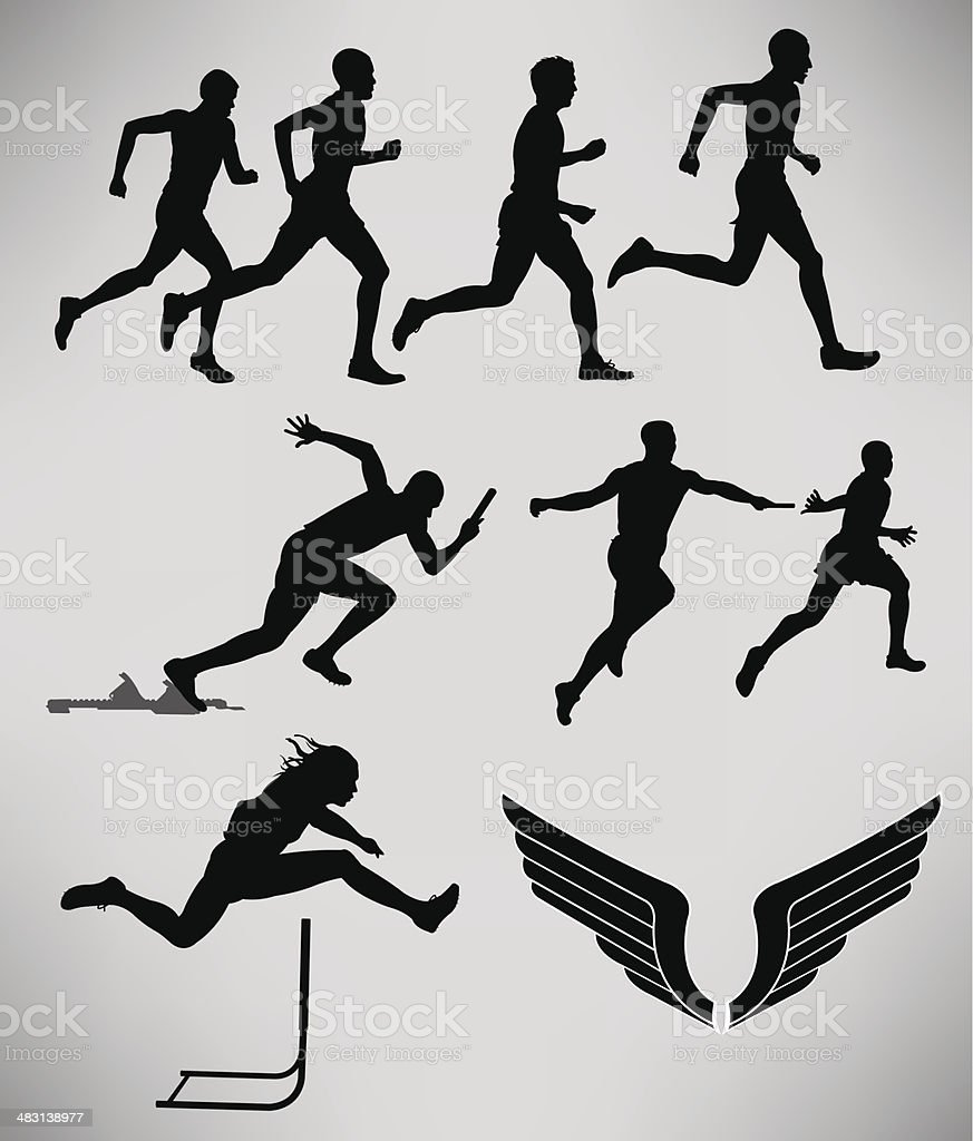 Track and Field - Men Events vector art illustration