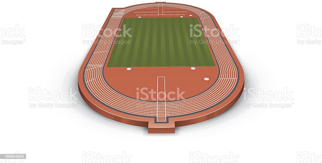 Track and field vector art illustration