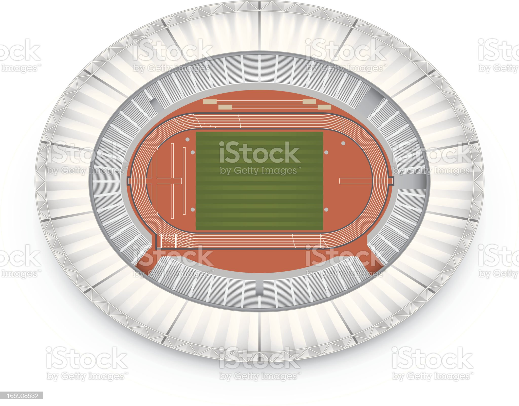 Track and field (Olympic Stadium - London 2012) royalty-free stock vector art