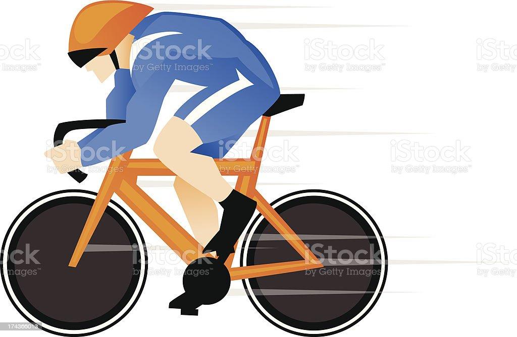 track bike racer royalty-free stock vector art
