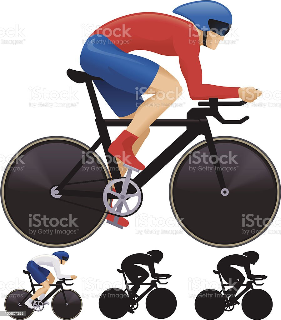 Track Cyclist royalty-free stock vector art