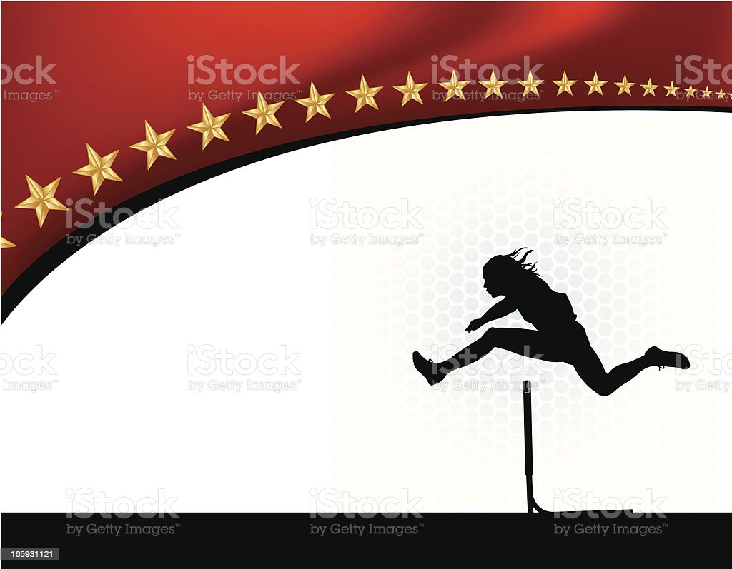 Track Event - Hurdler Background royalty-free stock vector art