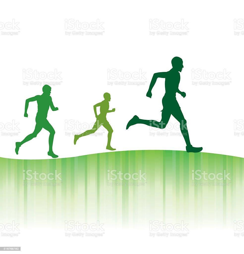 Track Meet, Jogging or Runners Club Grunge Background vector art illustration
