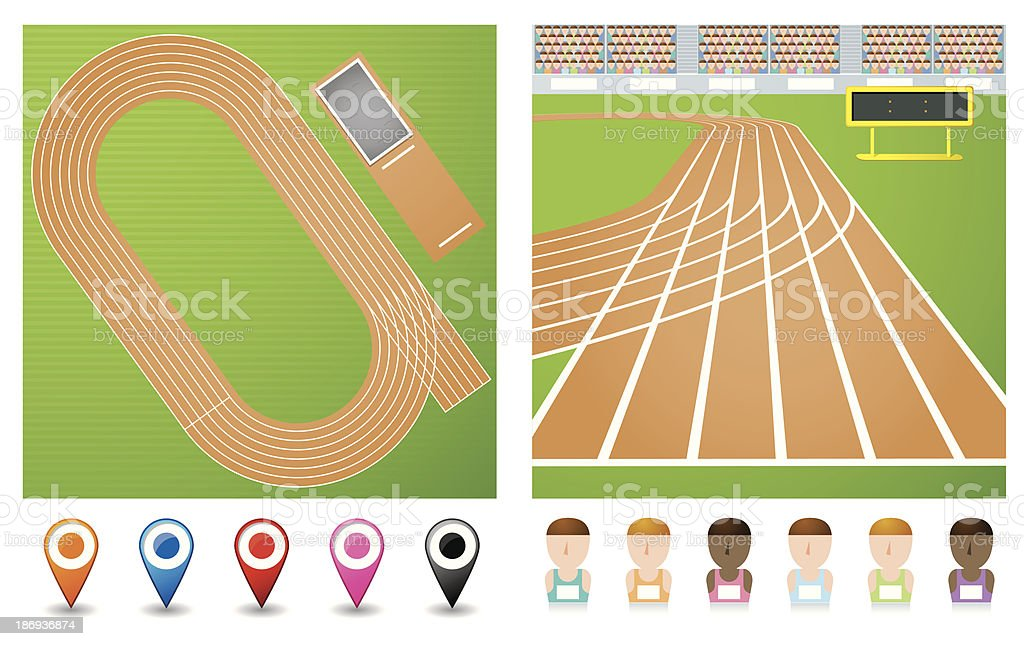 track vector art illustration