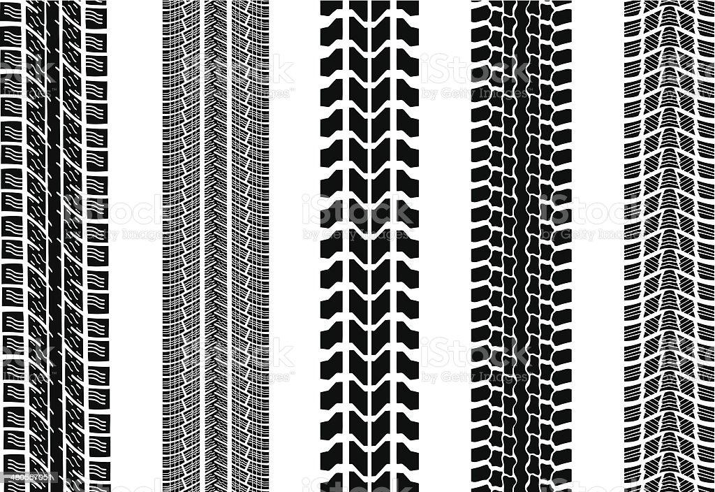 tracks vector art illustration
