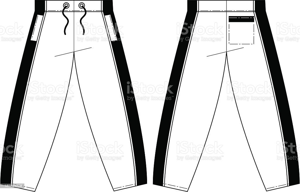 Tracksuit Pants Template vector art illustration