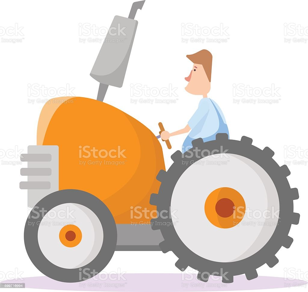 Tractor driver. Vector illustration vector art illustration
