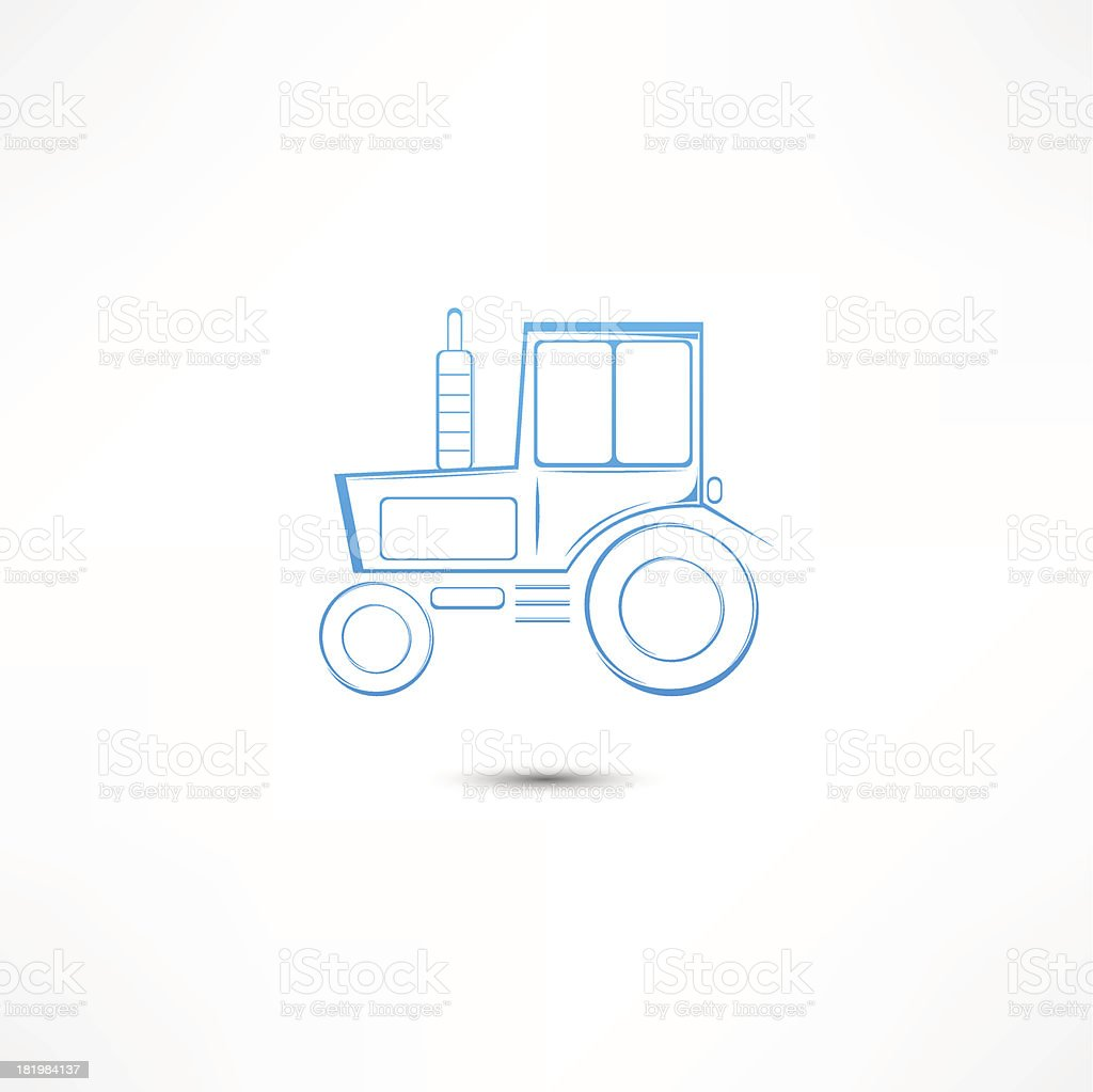 Tractor icon royalty-free stock vector art