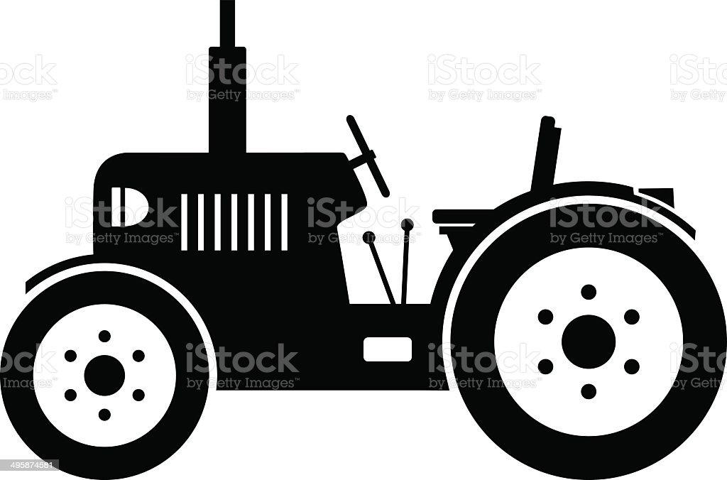 Tractor icon vector art illustration