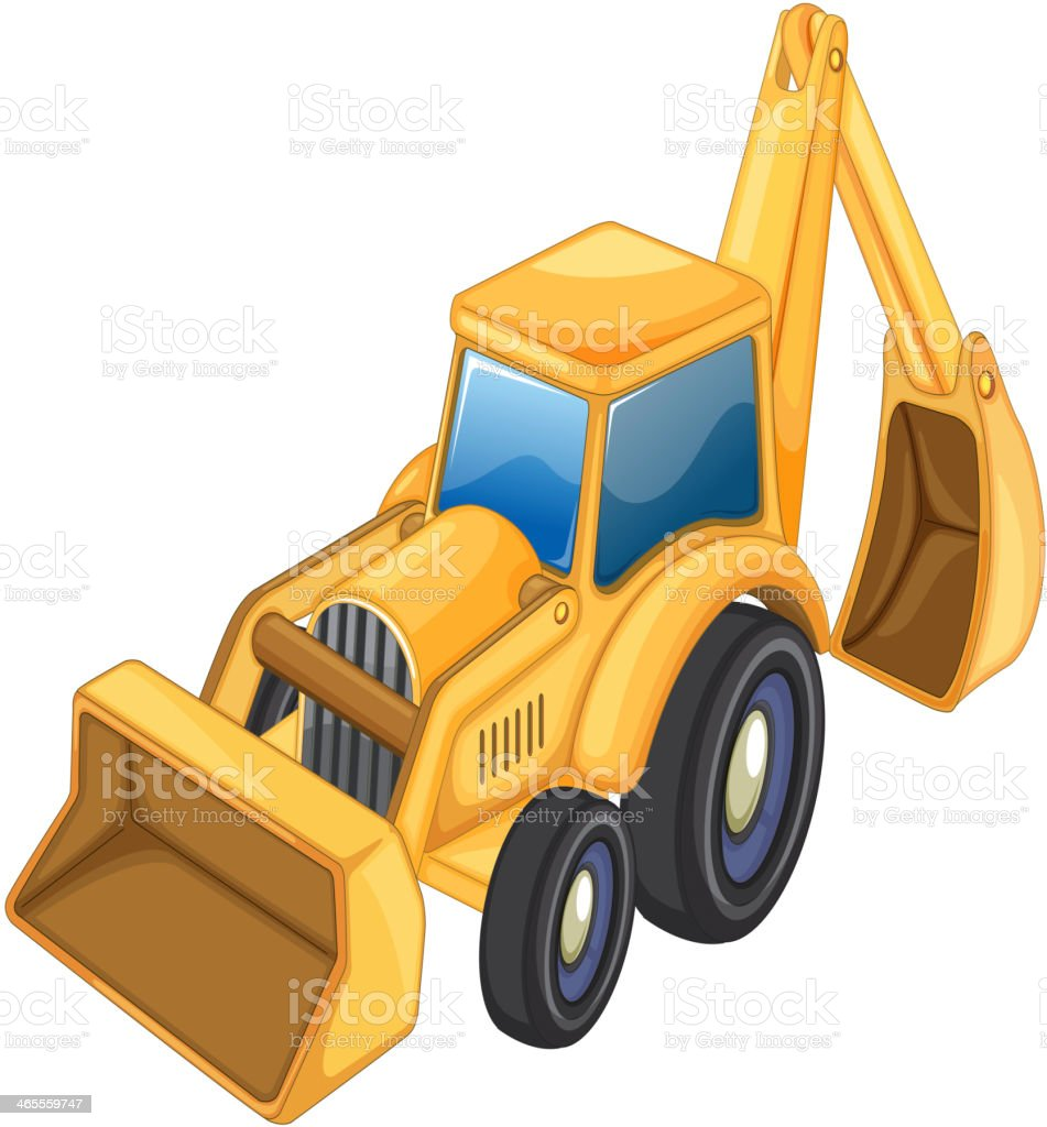 Tractor jcb royalty-free stock vector art