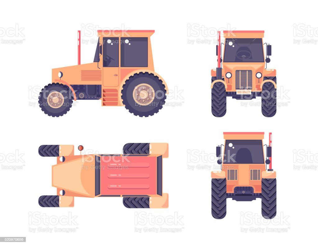 Tractor number one vector art illustration