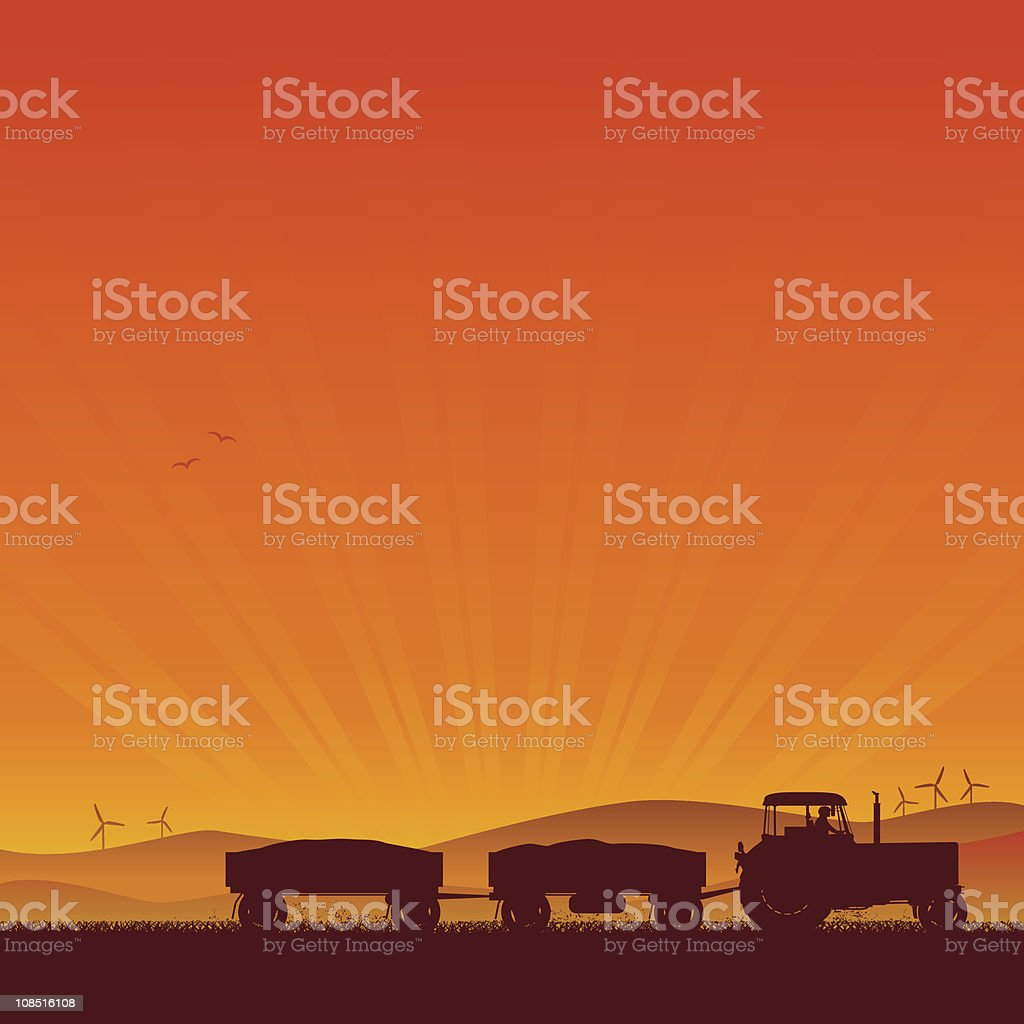 Tractor Silhouette royalty-free stock vector art