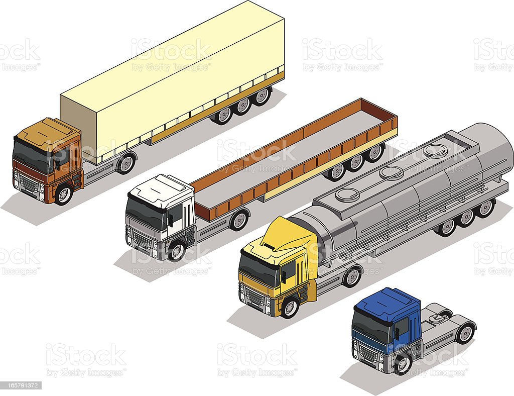 tractor trailers royalty-free stock vector art