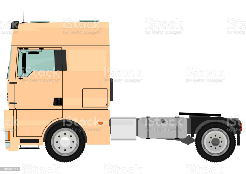 Tractor unit vector art illustration