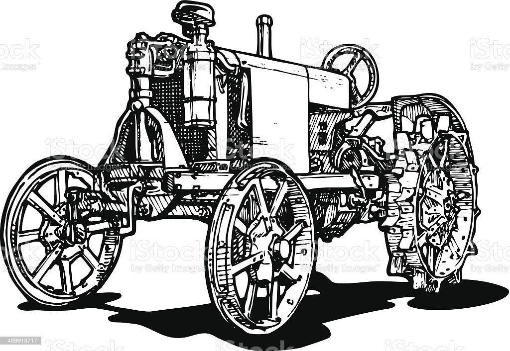 tractor royalty-free stock vector art