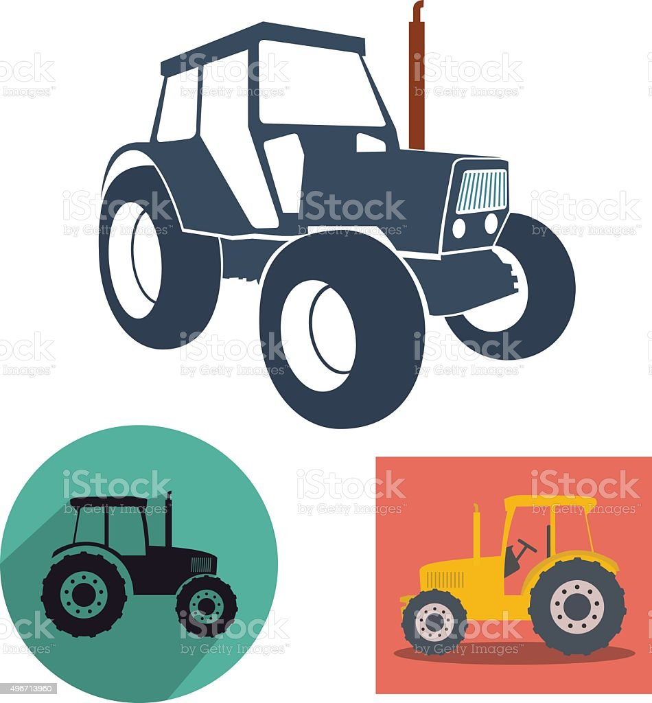 Tractor vector art illustration