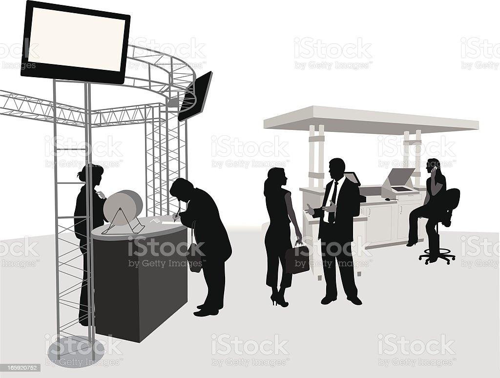 Trade Booth Vector Silhouette vector art illustration