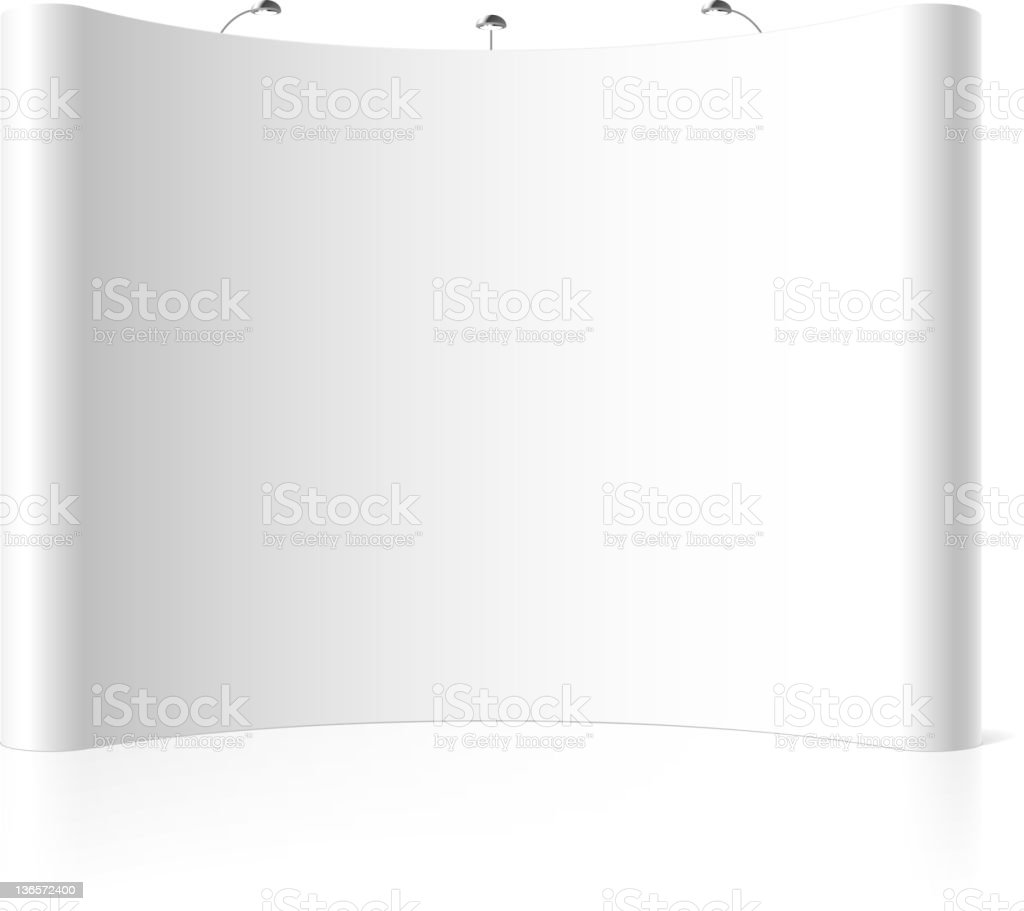 Trade exhibition stand royalty-free stock vector art