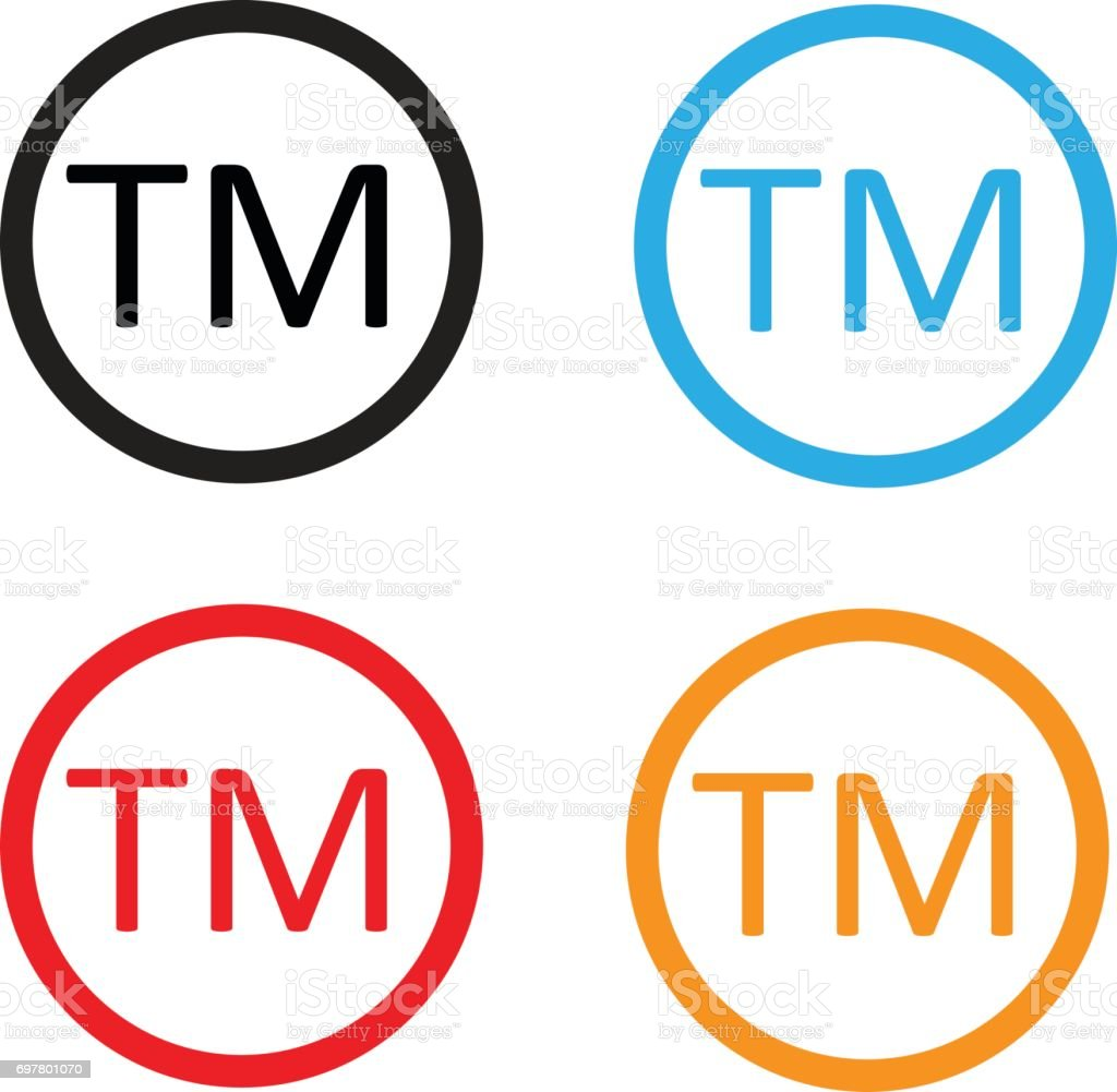 Trade mark sign. Trade mark icon on white background. vector art illustration