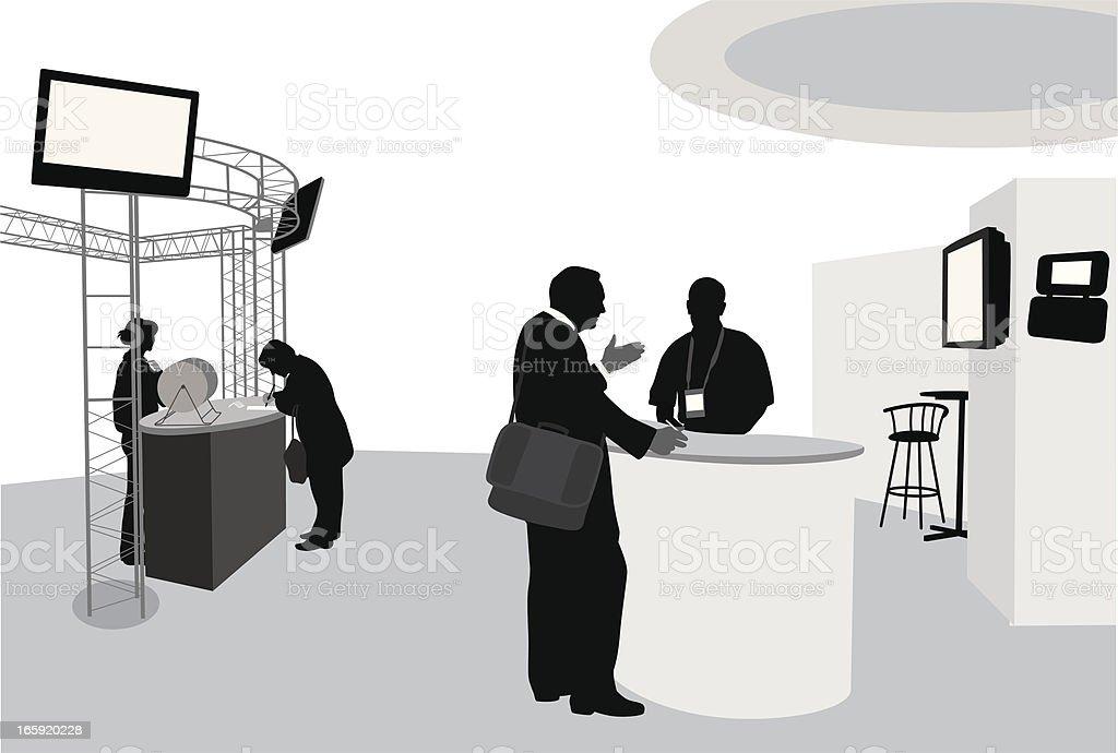 Trade Show Biz Vector Silhouette vector art illustration