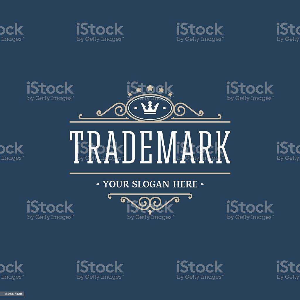 Trademark vector art illustration