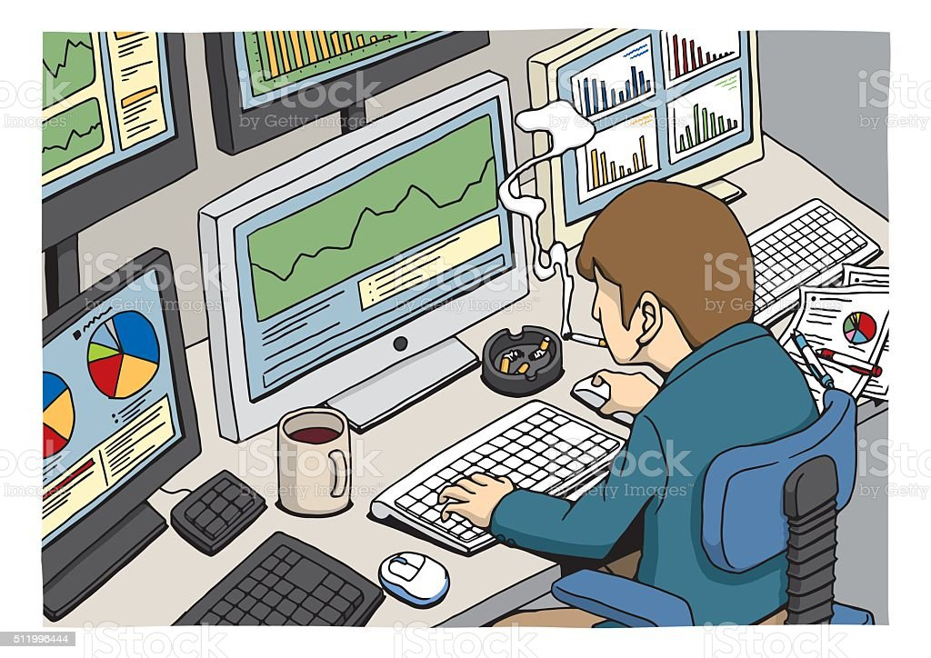 trader vector art illustration