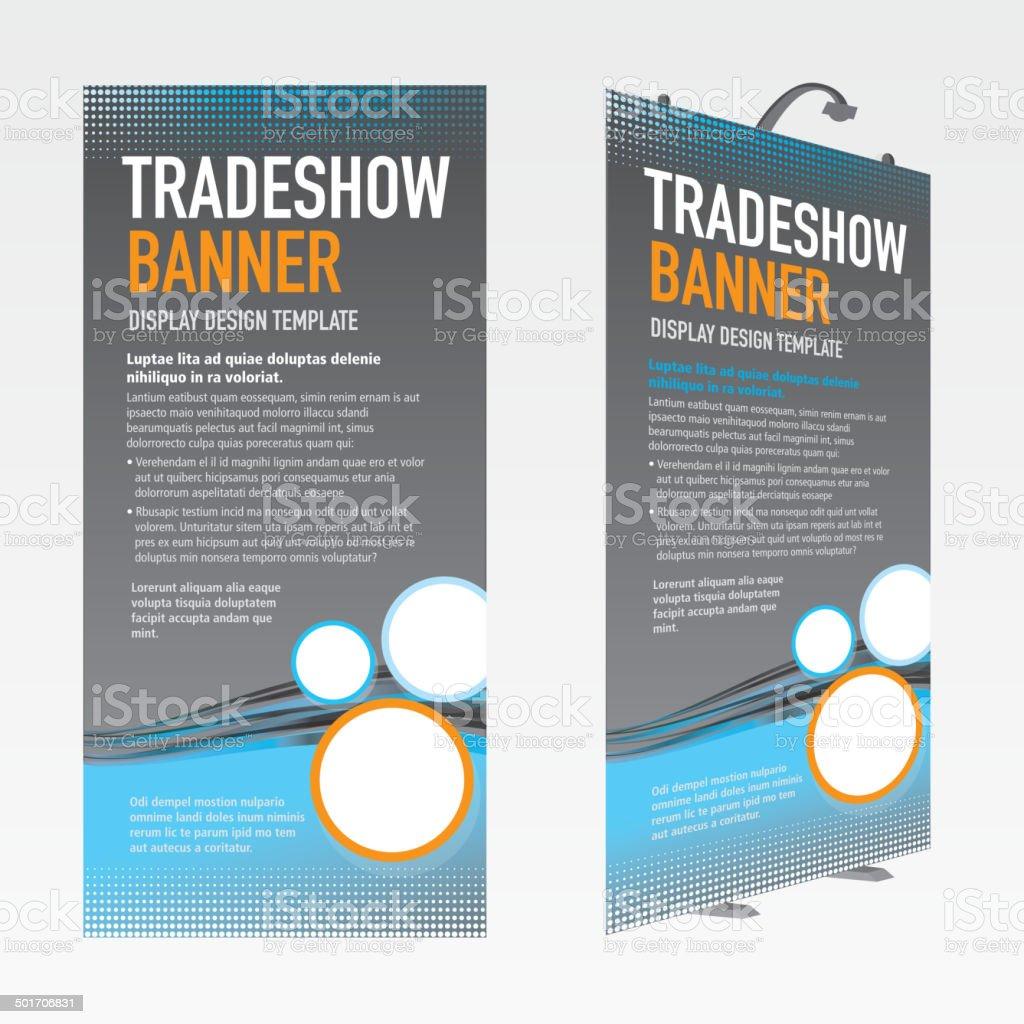 Tradeshow banner set gray and blue template design vector art illustration