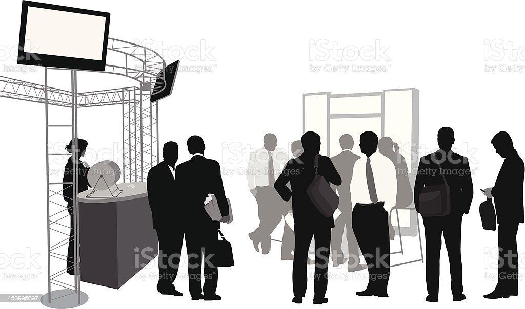 Tradeshow Crowd royalty-free stock vector art