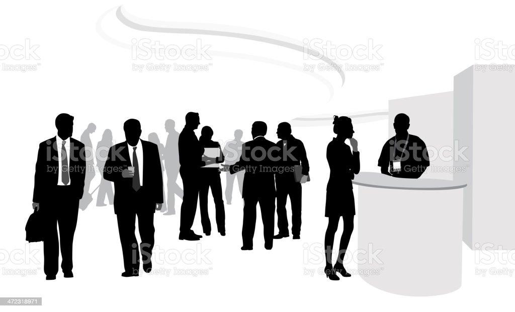 Tradeshow Crowd vector art illustration