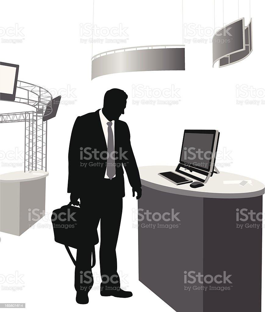 Tradeshow Electronics Vector Silhouette royalty-free stock vector art