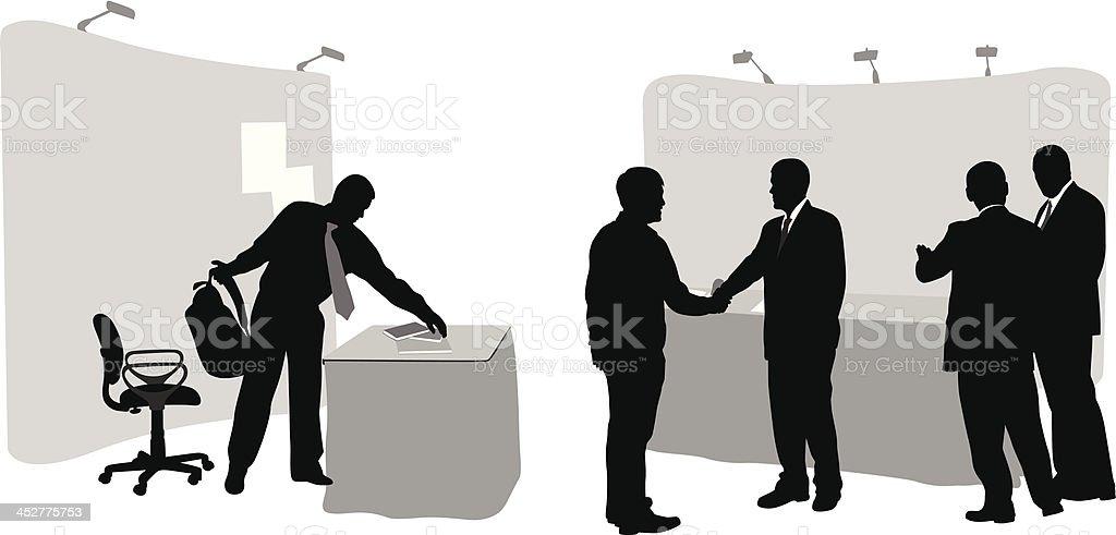 Tradeshow Friendships vector art illustration