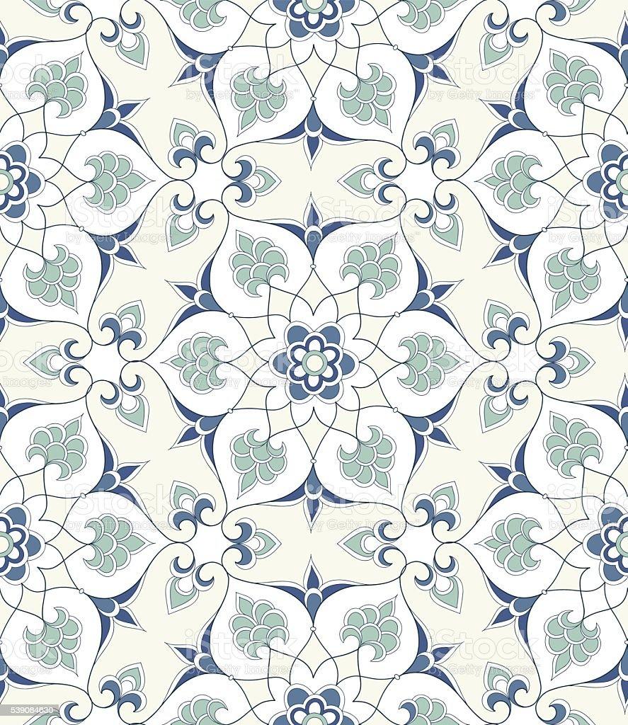Traditional Arabic seamless ornament. vector art illustration
