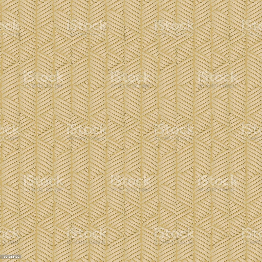 Traditional bamboo cane. vector art illustration