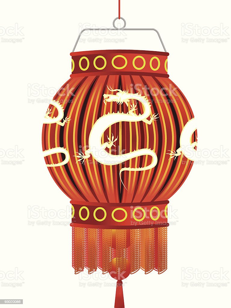 Traditional Chinese lantern royalty-free stock vector art