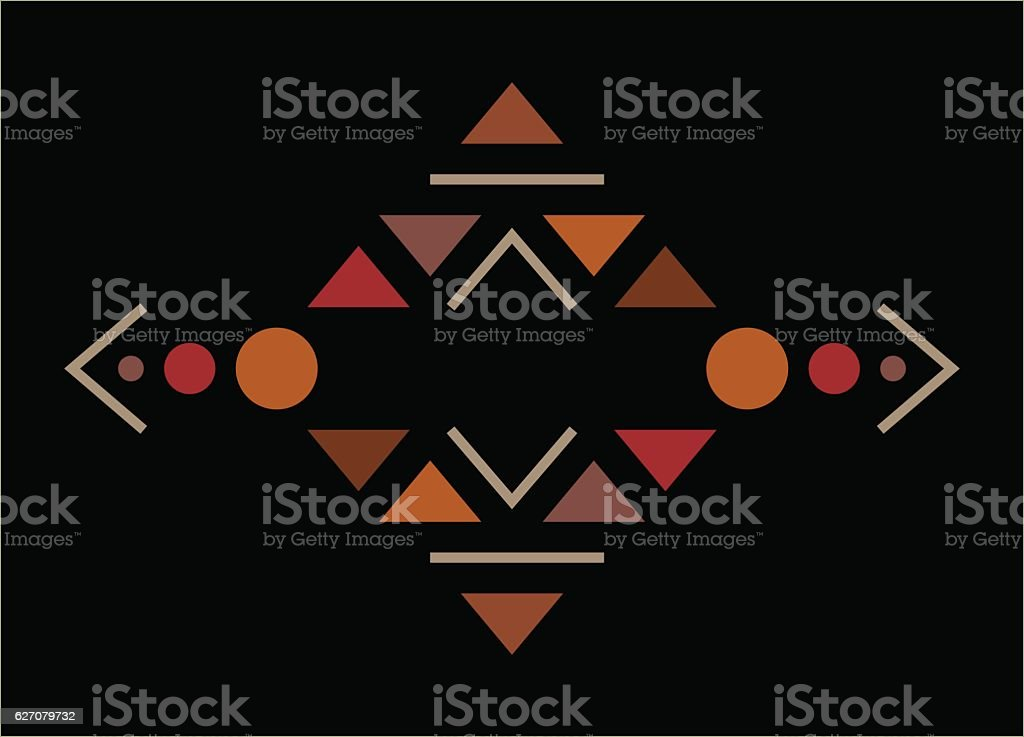 Traditional culture inspired simple geometric symbol. vector art illustration