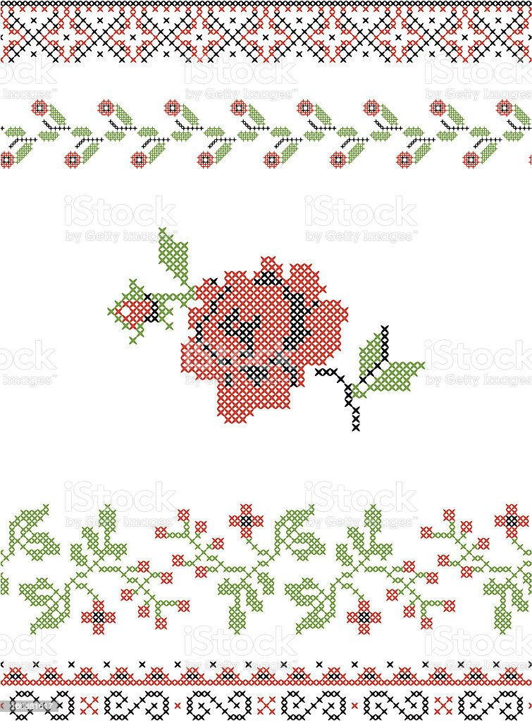 Traditional Embroidery royalty-free stock vector art