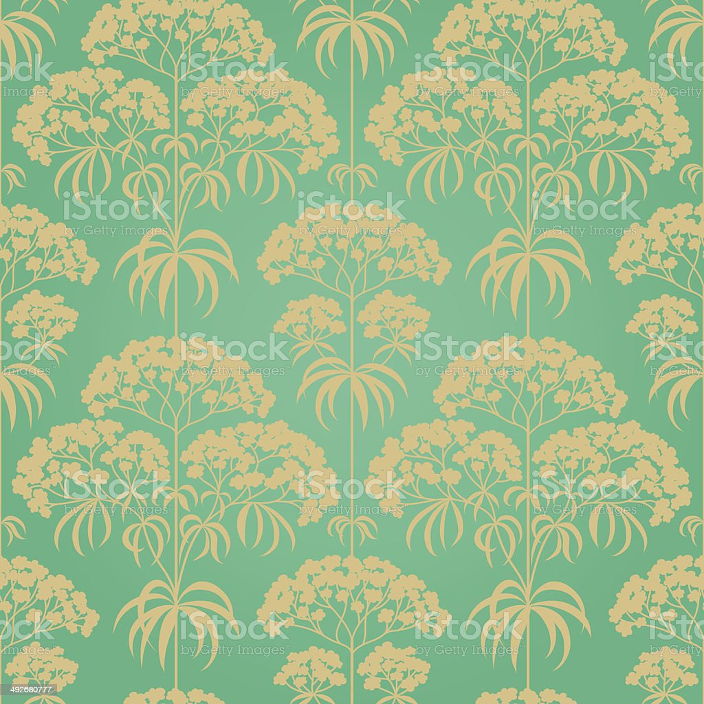 Traditional floral pattern in retro style. royalty-free stock vector art
