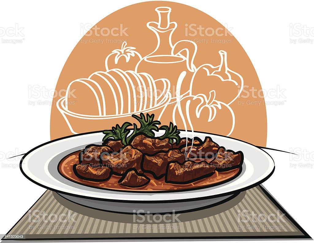 Traditional Goulash royalty-free stock vector art