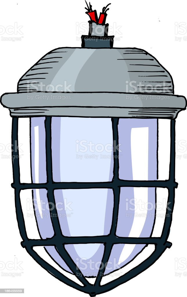 Traditional industrial lamp royalty-free stock vector art