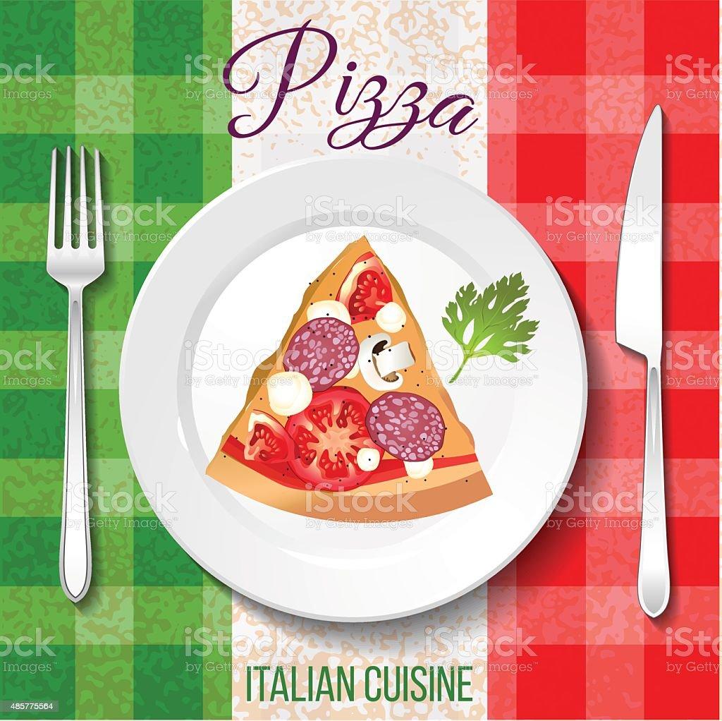 Traditional Italian cuisine. vector art illustration