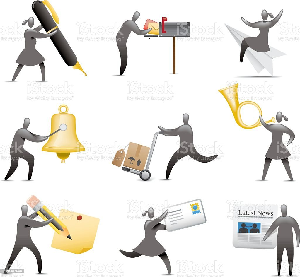 Traditional Methods of Communication royalty-free stock vector art