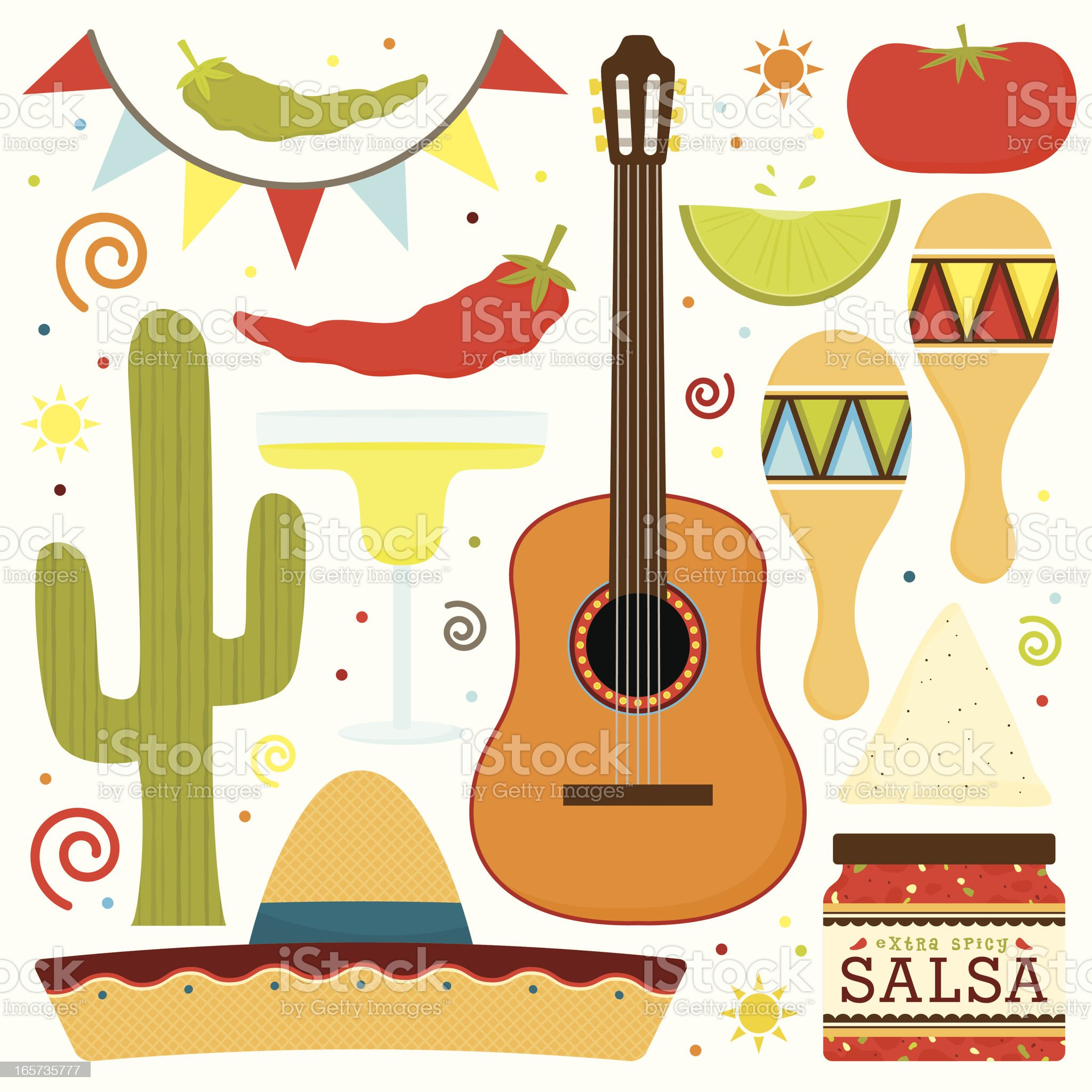Traditional Mexican Fiesta royalty-free stock vector art