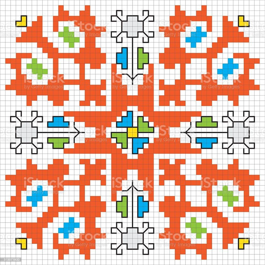 Traditional Slavic embroidery motif. Vector scheme. vector art illustration