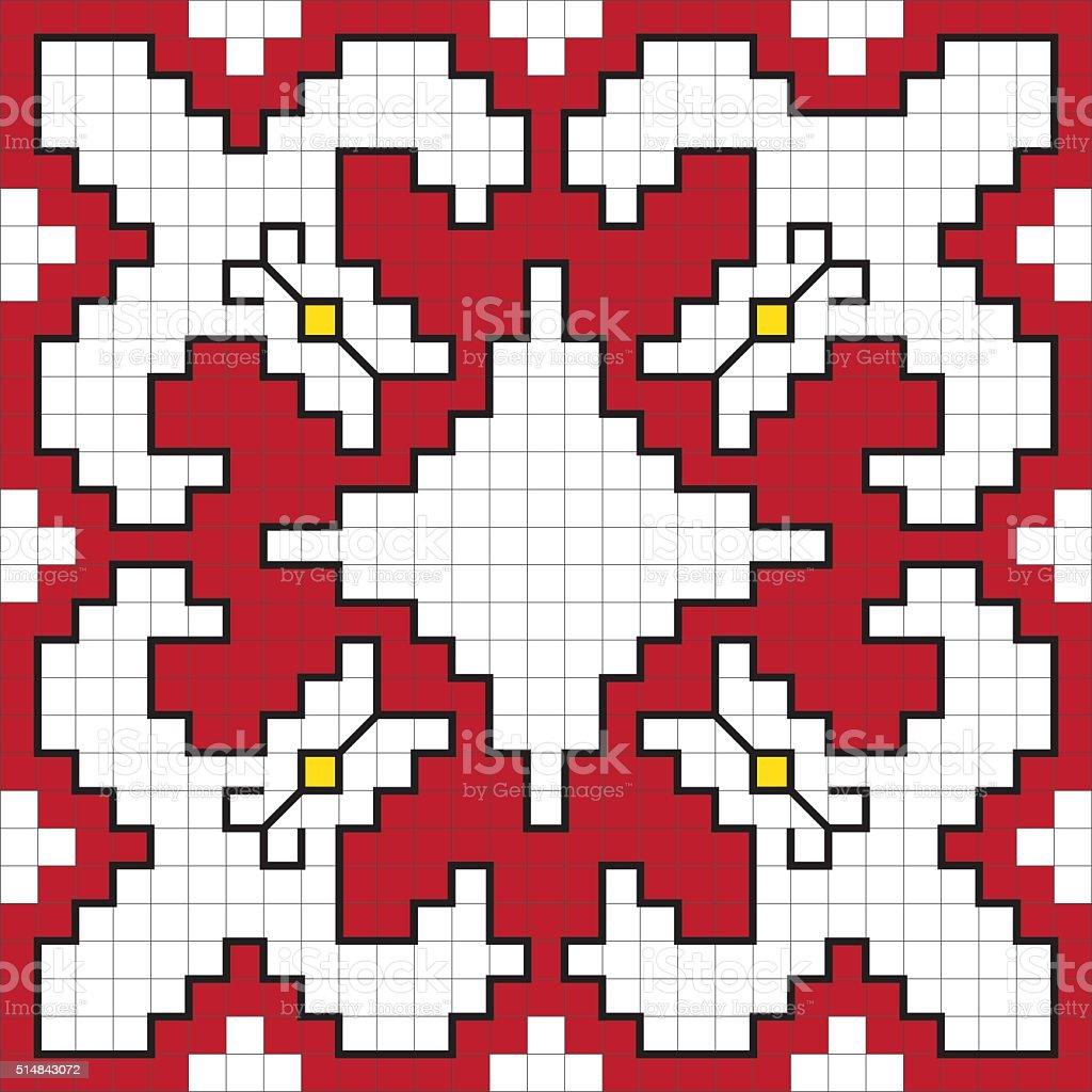Traditional Slavic embroidery scheme. vector art illustration