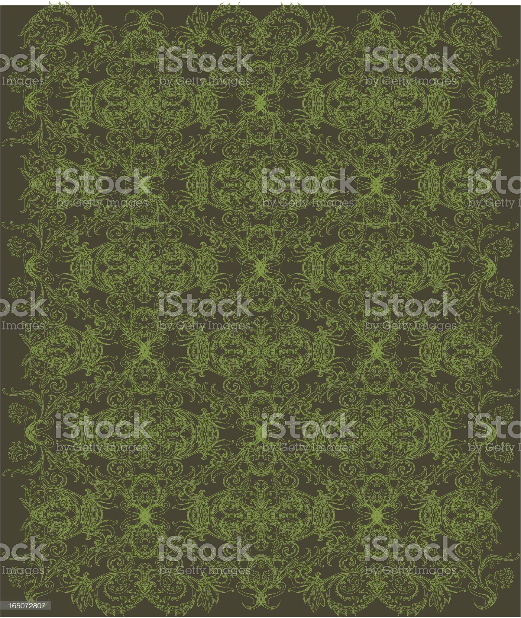 traditional wallpaper royalty-free stock vector art